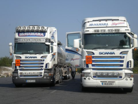 two Scania trucks in Ireland, by Peter Mooney CC BY-SA 2.0