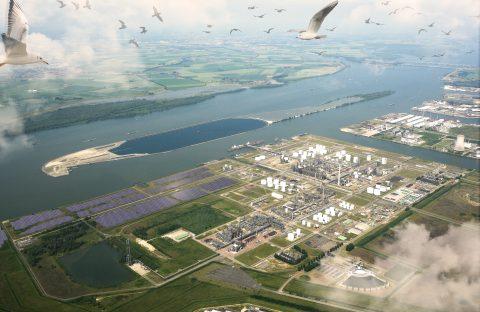 Foto Shell New Energies Zonnepark Moerdijk persbericht Shell 10 januari 2018