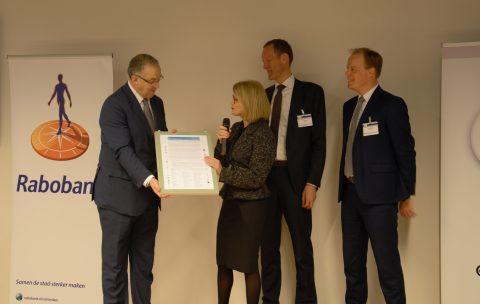 Overhandiging Rotterdamse Klimaatoproep aan burgemeester Aboutaleb