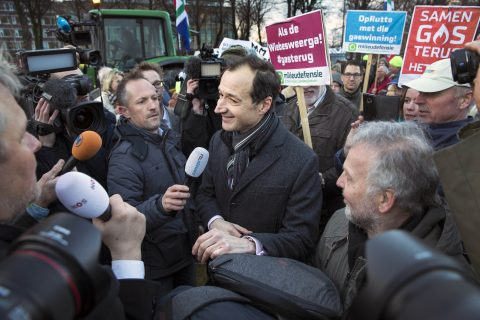 Wiebes bij het protest van Groningse boeren, februari 2018 - Hollandse Hoogte