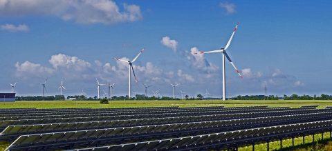 Zonnepark met wind op land, CCO