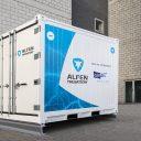 Alfen leverde onder meer het batterijopslagsysteem voor het logistiek centrum van distributienetbeheerder Eandis in Lokeren. (foto: Eandis)