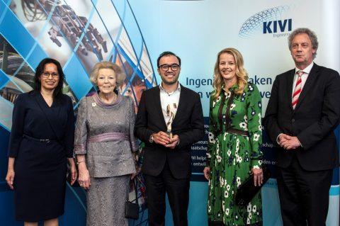 Prins Friso Ingenieursprijs 2018 winnaar Nima Tolou (foto: Kivi)