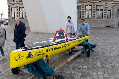 Autonoom varende droneboot Mahi, foto: Havenbedrijf Antwerpen