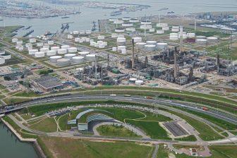 BP Refinery overview, raffinaderij, Rotterdam, industrie